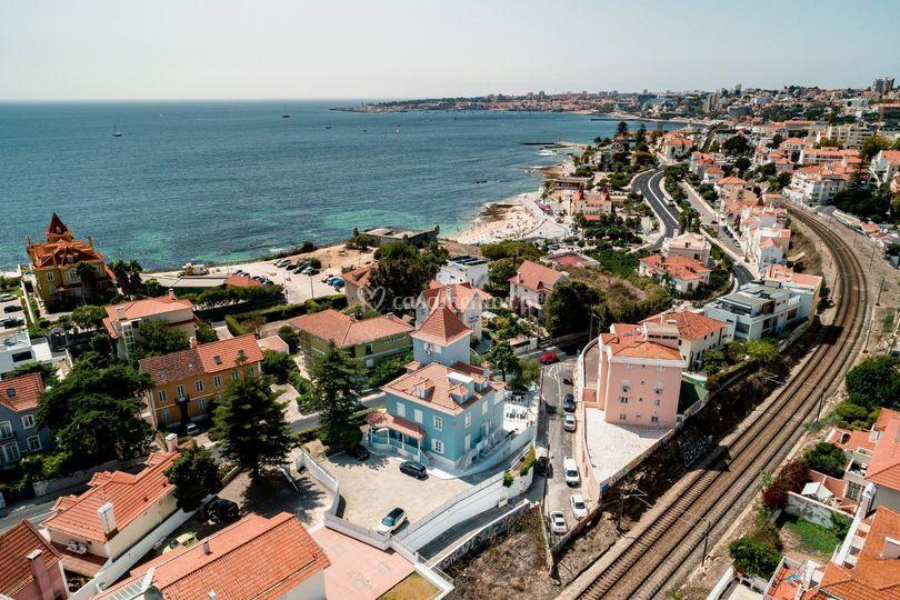 Vista localização do hostel