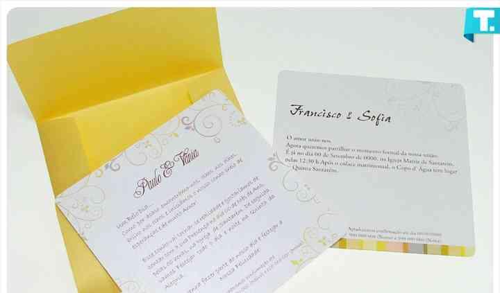 Convite casamento cql