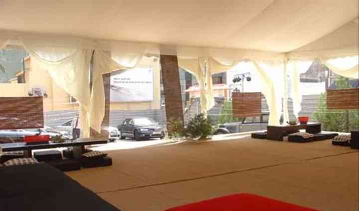 Tenda para eventos da AUDI