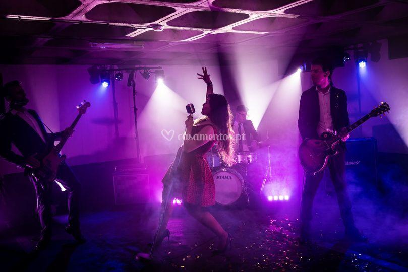 Formato banda com quatro músicos