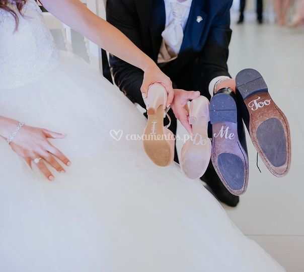 Sapato com legenda