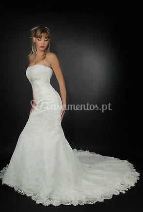 Vestida de noiva de Criações Maria José Rodrigues