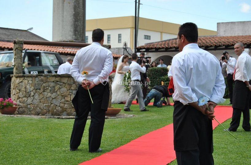 A chegada dos noivos