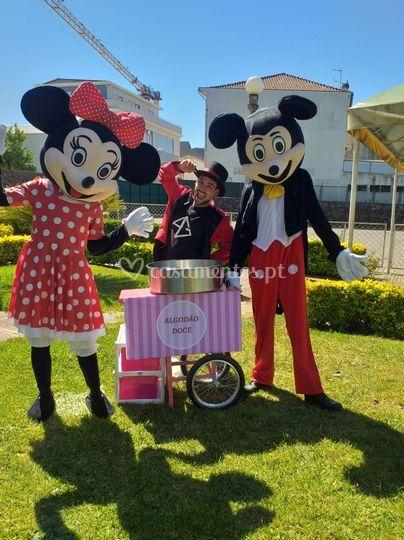 Algodão doce & Mickey e Minnie