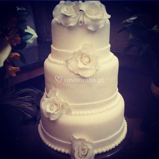 Casamento andares com rosas