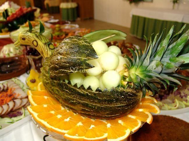 Escultura de melão