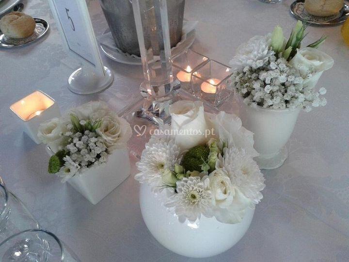 Mesa de casamento branco