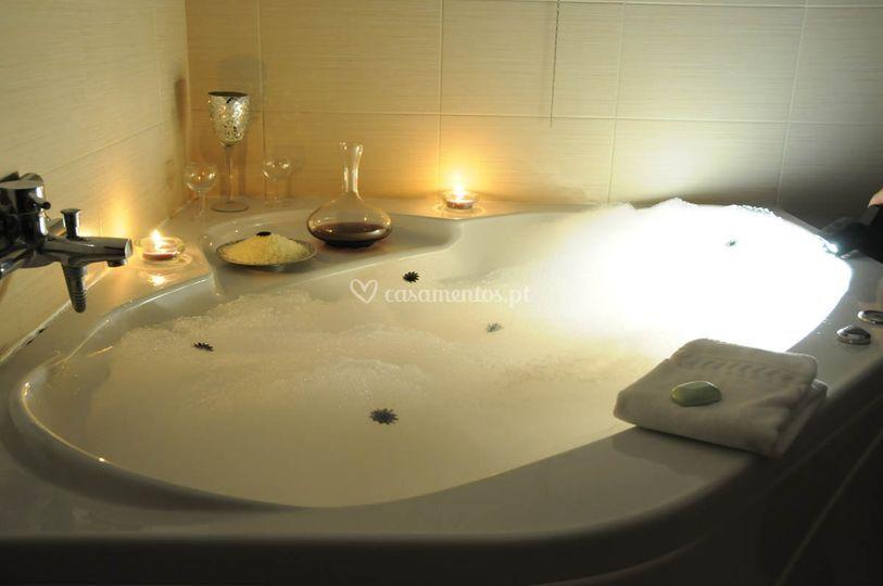 Banheira romântica