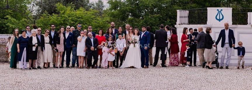 Foto de grupo no casamento