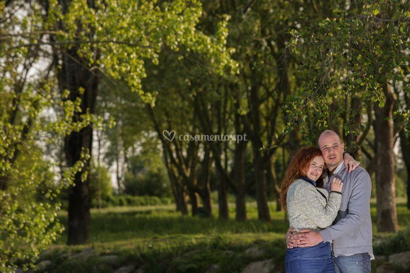Foto casamento duplo efeito