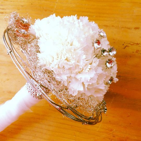Bouquet noiva branco/prata