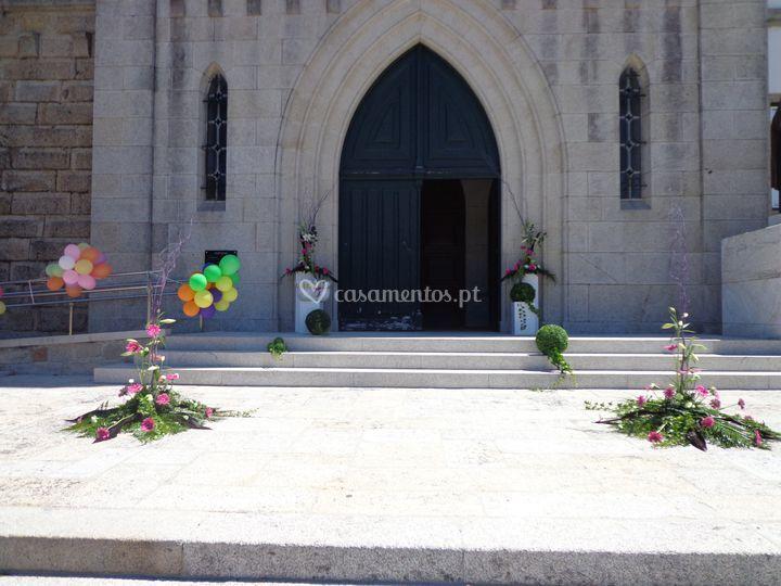 Decoração entrada de Igreja