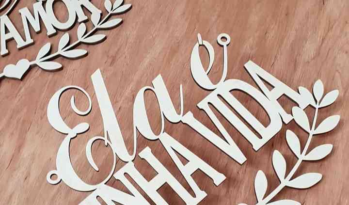 Placas de cadeiras dos noivos