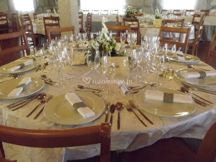 A decoração da mesa
