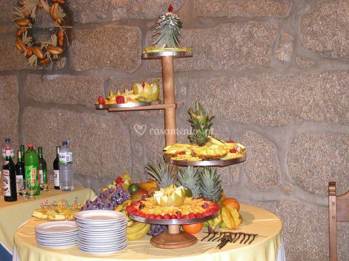 Mesa com frutas