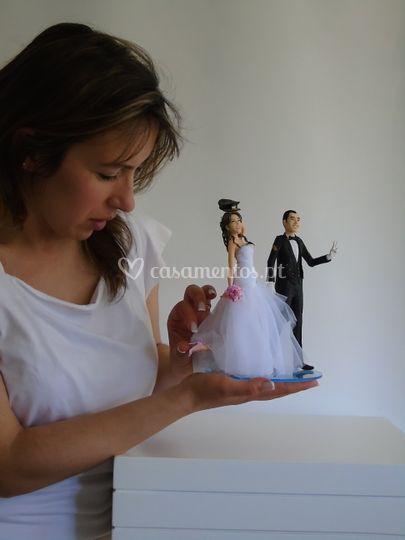 Noivos topo bolo personalizado