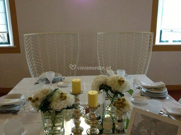 Mesa para os noivos