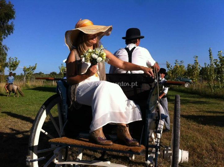 Noiva na carroça do Tambor