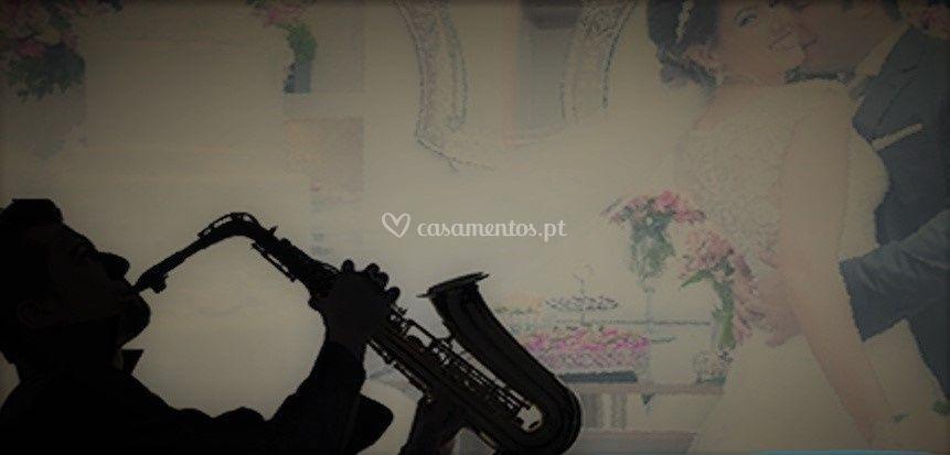 Saxofonista na recepção