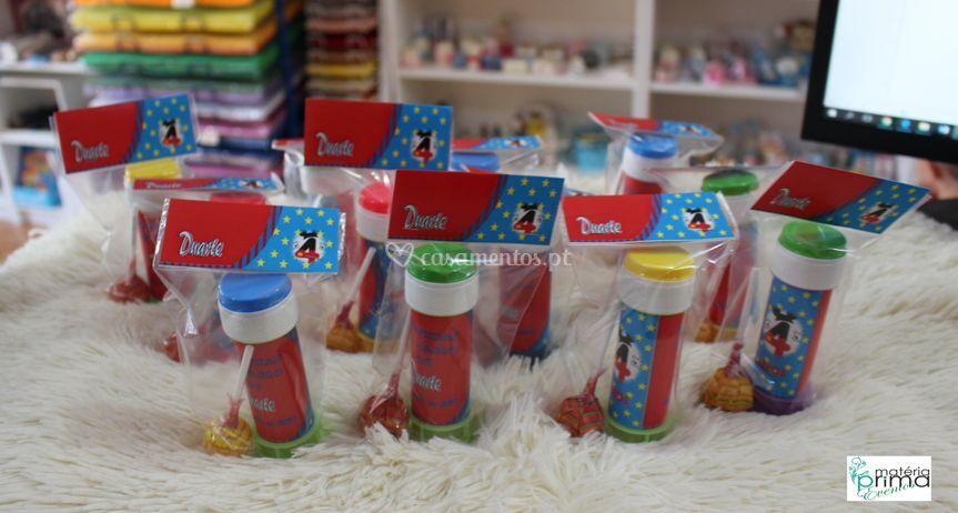 Bolinhas de sabão personalizad