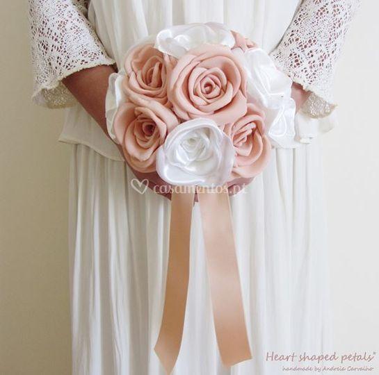 Bouquet de rosas salmão
