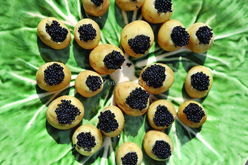 Batatinhas com caviar