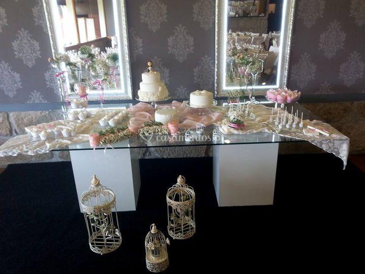 Mesa bolo comunhão