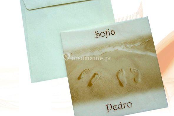 Pegadas é areia