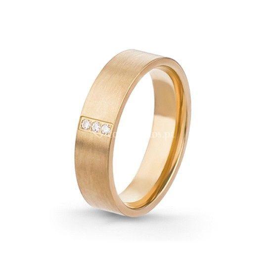 Aliança ouro e diamante