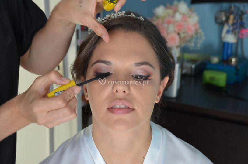 Noiva a ser preparada