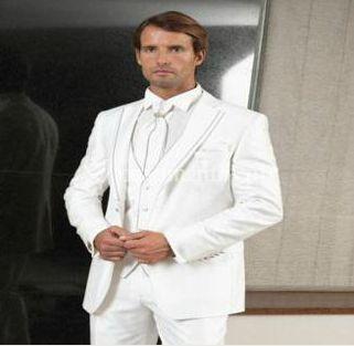 Fato branco de noivo