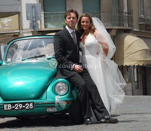 Partida da noiva e do noivo