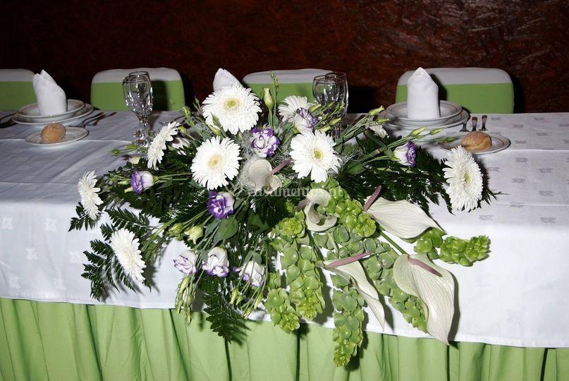 Decoração da mesa principal