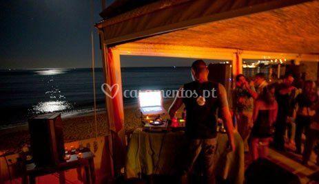 Noite na praia