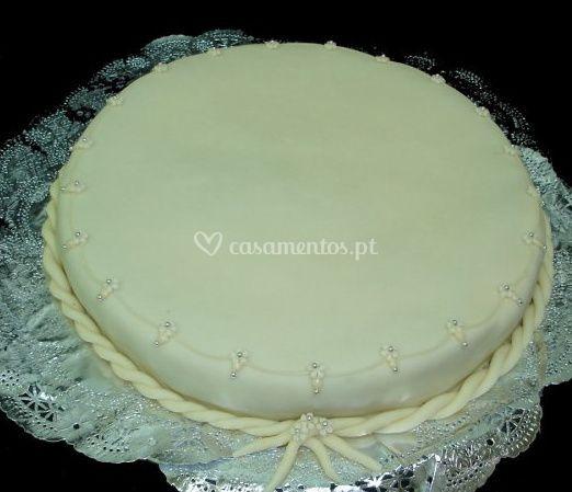 Bolo branco de Torta de Noz