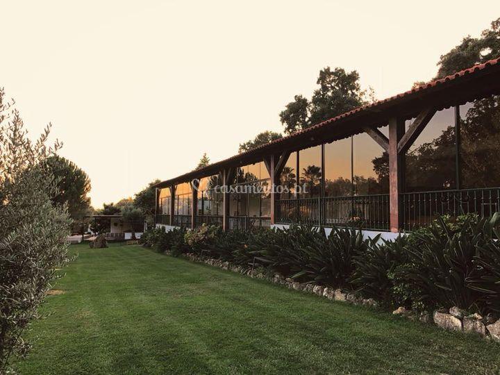 Jardim / salão principal