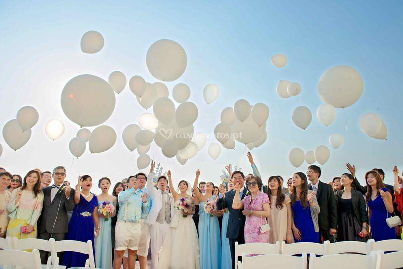 Lançamento de Balões Gigantes