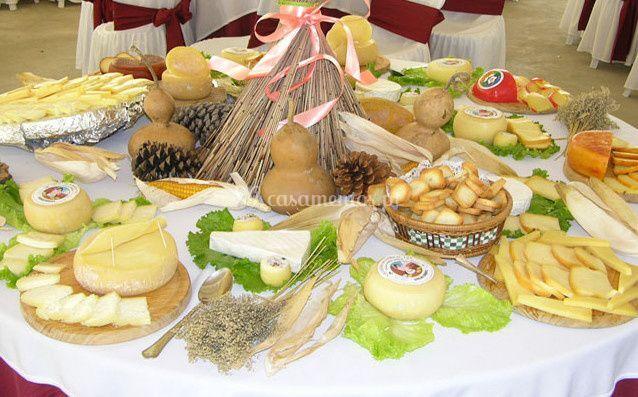 Mesa de queijos de Quinta da Nora