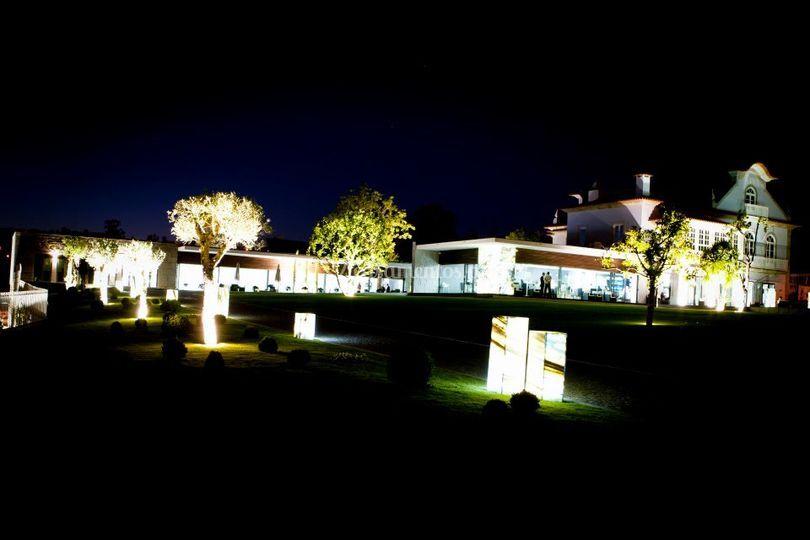Palacete - Vista noturna