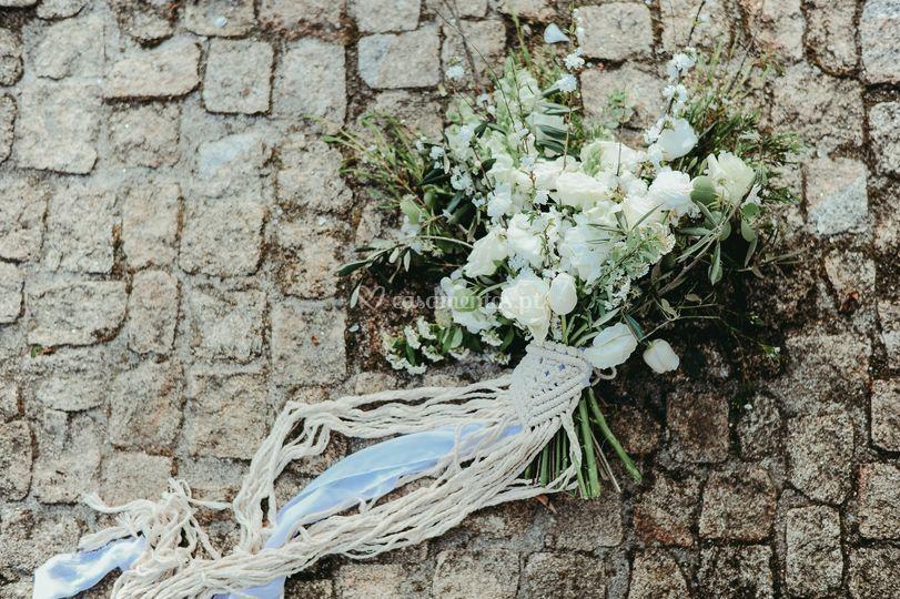 Macramé no bouquet