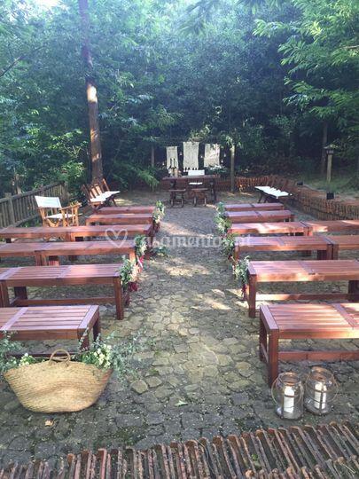 Altar casamento campestre
