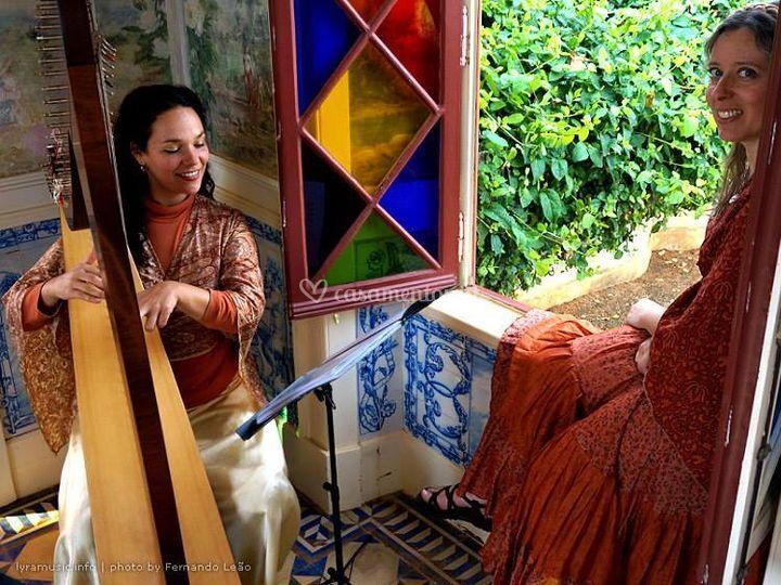 Voz e harpa