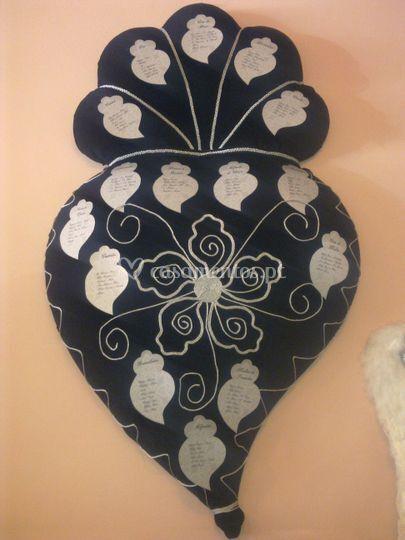 Placard coração de viana