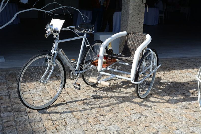 Bicicleta para o champanhe