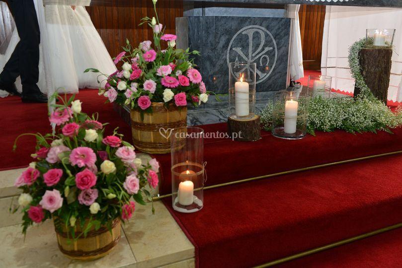 Decoração altar principal