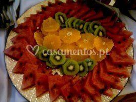 Fruta laminada pelo Chef