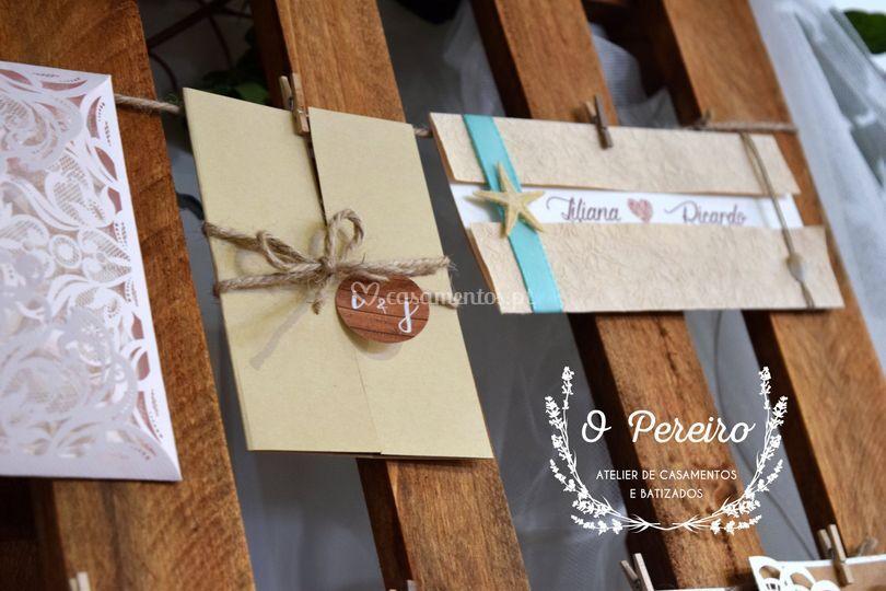 Convites casamento personaliza de O Pereiro