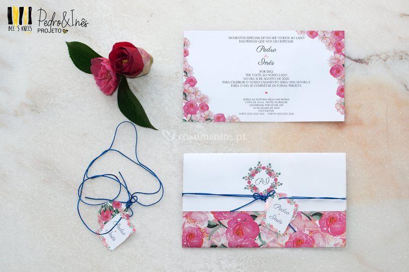 Convite Florido horizontal