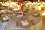 Mesa decora��o dourado de TRYP Colina do Castelo Hotel