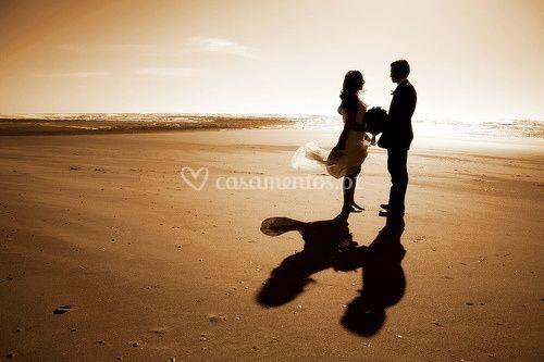 Casamento ao por do sol